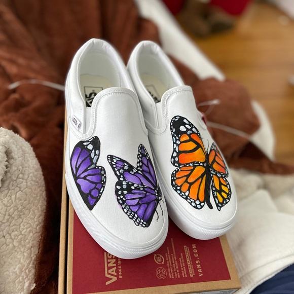 Custom Butterfly Vans | Poshmark